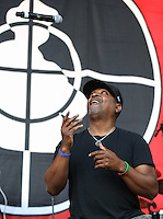 Chuck D of Public Enemy performs during The New Look Wireless Festival at Finsbury Park, London, England on 28 June 2015. Photo by Andy Rowland.
