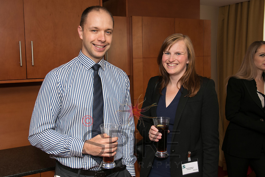 Ian Whiley of Swindell & Pearson with Deborah Robinson of Cartwright King