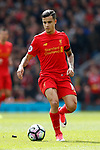Philippe Coutinho of Liverpool during the English Premier League match at Anfield Stadium, Liverpool. Picture date: April 1st 2017. Pic credit should read: Simon Bellis/Sportimage