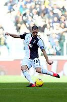 2nd February 2020; Allianz Stadium, Turin, Italy; Serie A Football, Juventus versus Fiorentina; Leonardo Bonucci of Juventus crosses the ball into the box