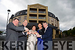 Denis Deery, Fels Point Manager welcomes Dick and Eileen Henggeler here with Oonagh  O'Gara and Executive Chairman of the Rose of Tralee International Festival, Anthony O'Gara and  at the fels point Hotel on Thursday
