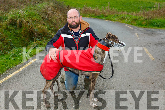 At  Ballyduff Coursing on Sunday was James Allen with stop at the shop