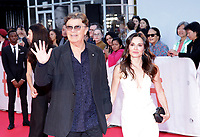 "TORONTO, ONTARIO - SEPTEMBER 05: Robbie Robertson and Janet Zuccarini attends the ""Once Were Brothers: Robbie Robertson And The Band"" premiere during the 2019 Toronto International Film Festival at Roy Thomson Hall on September 05, 2019 in Toronto, Canada. <br /> CAP/MPIIS<br /> ©MPIIS/Capital Pictures"