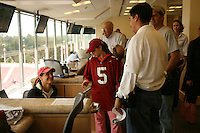 14 October 2006: Kindle Van Linge, the HP Junior Photographer marketing winner, during Stanford's 20-7 loss to Arizona during Homecoming at Stanford Stadium in Stanford, CA.