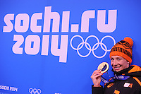 OLYMPICS: SOCHI: Medal Plaza, 19-02-2014, Ladies' 5000m, Carien Kleibeuker (NED), ©photo Martin de Jong
