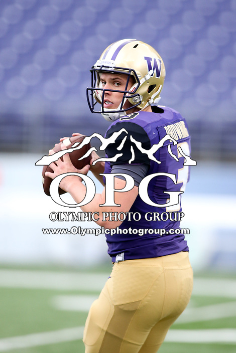 03 September 2016:  Washington's Jake Browning against Rutgers.  Washington defeated Rutgers 48-13 at the University of Washington in Seattle, WA.