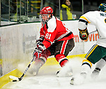 12 December 2009: St. Lawrence University Saints' forward Brandon Bollig, a Sophomore from St. Charles, MO, in action against the University of Vermont Catamounts at Gutterson Fieldhouse in Burlington, Vermont. The Catamounts shut out their former ECAC rival Saints 3-0. Mandatory Credit: Ed Wolfstein Photo