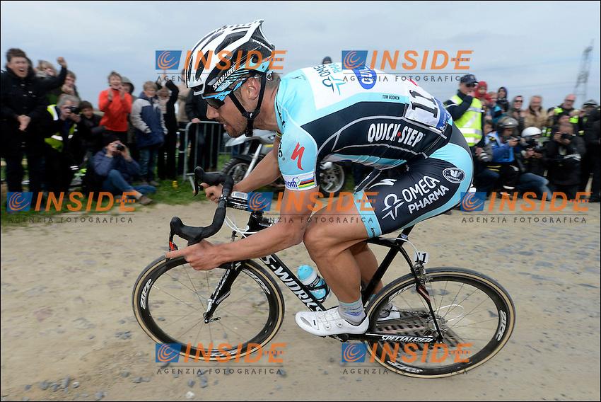 BOONEN Tom (BEL) - Omega Pharma - Quickstep  Vincitore della corsa.Parigi - Roubaix 8/4/2012.Ciclismo corsa in linea.Foto Insidefoto / Vincent Kalut - Nico Vereecken / Photo News / Panoramic .ITALY ONLY