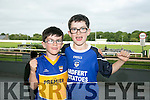 Rory Clifford and Jake Clifford from Ardfert enjoying a night out at the Kingdom Greyhound Stadium on Saturday night.