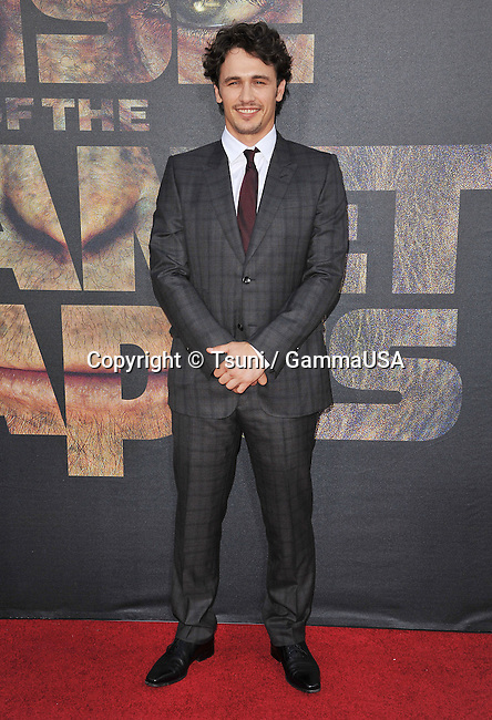 James Franco arriving at the Rise of The Planet Of The Apes Premiere at the Chinese Theatre In Los Angeles.