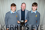 Ruarí O'Sullivan, Mark Ryall and Darragh Reen attending the CBS Sports Award evening in the Rose Hotel on Thursday.