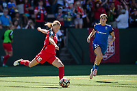 Seattle, WA - Saturday, August 26th, 2017: Emily Sonnett during a regular season National Women's Soccer League (NWSL) match between the Seattle Reign FC and the Portland Thorns FC at Memorial Stadium.