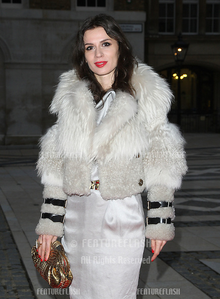 Lara Bohinc arriving for the Women for Women Gala held at the Guildhall, London. 03/05/2012 Picture by: Henry Harris / Featureflash