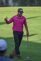 Shubhankar Sharma (IND) acknowledges the applause after sinking is putt on 17 during round 3 of the World Golf Championships, Mexico, Club De Golf Chapultepec, Mexico City, Mexico. 3/3/2018.<br /> Picture: Golffile | Ken Murray<br /> <br /> <br /> All photo usage must carry mandatory copyright credit (&copy; Golffile | Ken Murray)