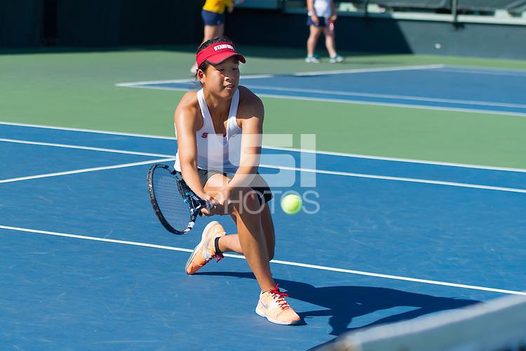 Stanford, CA. May 9, 2014. Stanford Women's Tennis in first round NCAA Tournament. Stanford beat Quinnipiac 4-0.