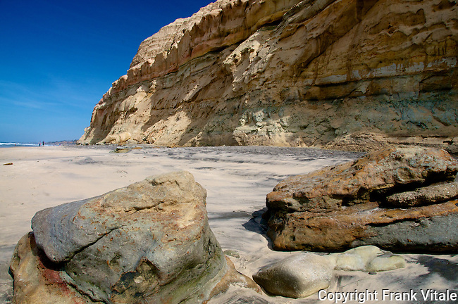 Torrey Pines State Reserve Beach and Seaside Cliffs, San Diego, CA