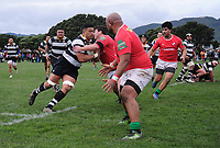 Action from the Wellington premier reserve rugby final between Oriental Rongotai and Marist St Pat's at Petone Rec in Petone, New Zealand on Saturday, 4 August 2018. Photo: Dave Lintott / lintottphoto.co.nz