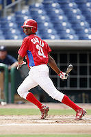 July 10, 2009:  Second Baseman Lendy Castillo (39) of the GCL Phillies during a game at Bright House Networks Field in Clearwater, FL.  The GCL Phillies are the Gulf Coast Rookie League affiliate of the Philadelphia Phillies.  Photo By Mike Janes/Four Seam Images