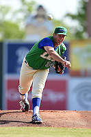 Lexington Legends pitcher Andrew Edwards (34) delivers a pitch during a game against the Hagerstown Suns on May 19, 2014 at Whitaker Bank Ballpark in Lexington, Kentucky.  Lexington defeated Hagerstown 10-8.  (Mike Janes/Four Seam Images)