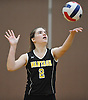 Shannon Hagan #2 of Wantagh serves a ball into play during a Nassau County Conference A1 varsity girls volleyball match against host Lynbrook High School on Thursday, Sept. 8, 2016. Wantagh won the match 3-1.