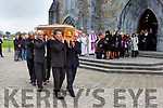 Weshie Fogarty coffin is carried from St Marys Cathedral by family members on Wednesday