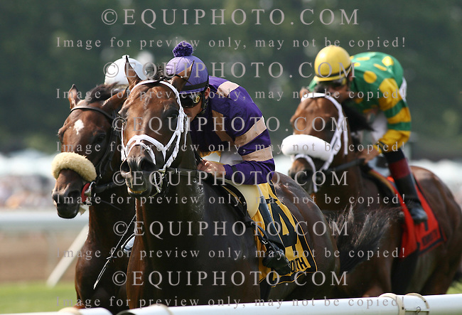 Thoroughbreds in action at Monmouth Park in Oceanport, New Jersey. Photo By Bill Denver/EQUI-PHOTO