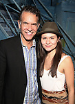Brian Stokes Mitchell and Phillipa Soo during the Actors' Equity Broadway Opening Night Gypsy Robe Ceremony honoring Manoel Felciano for 'Amelie' at the Walter Kerr Theatre on April 3, 2017 in New York City