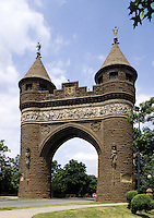 Hartford, Connecticut.The Soldiers and Sailors Memorial Arch in Bushnell park