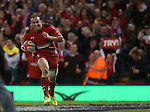 Centre Jamie Roberts runs over to score under the posts for Wales.<br /> RBS 6 Nations 2014<br /> Wales v Scotland<br /> Millennium Stadium<br /> <br /> 15.03.14<br /> <br /> &copy;Steve Pope-SPORTINGWALES