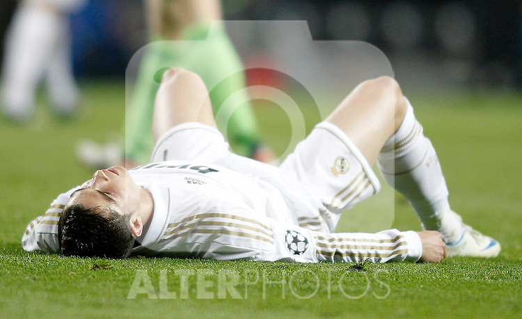 Real Madrid's Cristiano Ronaldo dejected during UEFA Champions League match. April 25, 2012. (ALTERPHOTOS/Alvaro Hernandez)