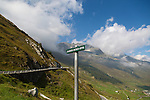 The Furka Pass in the Swiss Alps that connects Gletsch, Valais with Realp, Uri, Switzerland, Europe