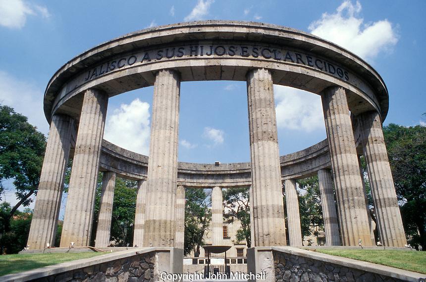 The Rotunda de los Jaliscenes Ilustres in downtown Guadalajara, Mexico
