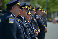 May 10, 2013  (Washington, DC)  Police officers stand in ranks during a ceremony at the Washington Area Law Enforcement Memorial for Police Week, May 10, 2013.  (Photo by Don Baxter/Media Images International)