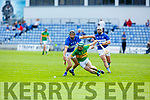 Lixnawv's James Flaherty and St Brendans Darren Dineen tussle for possession of the sliotar in the Qtr final of the Senior Hurling Championship in Austin Stack Park on Sunday.