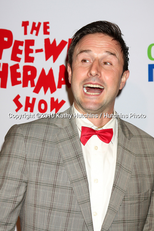 "David Arquette.arriving at the ""The Pee Wee Herman Show"" Opening Night..Club Nokia.Los Angeles, CA.January 20, 2010.©2010 Kathy Hutchins / Hutchins Photo...."
