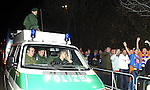 German Riot Police in Stuttgart in 2003 for the visit of Rangers which of course passed off peacefully even though the fans were hereded in through one entrace around the back