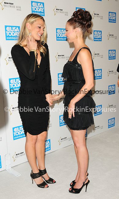 Molly Simms & Ashley Judd  at The 4th annual USA TODAY Hollywood Hero Award Gala honoring Ashley Judd held at The Montage Beverly Hills in Beverly Hills, California on November 10,2009                                                                   Copyright 2009 DVS / RockinExposures