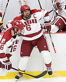 Ryan Grimshaw (Harvard - 6) - The Harvard University Crimson defeated the University of New Hampshire Wildcats 7-6 on Tuesday, November 22, 2011, at Bright Hockey Center in Cambridge, Massachusetts.