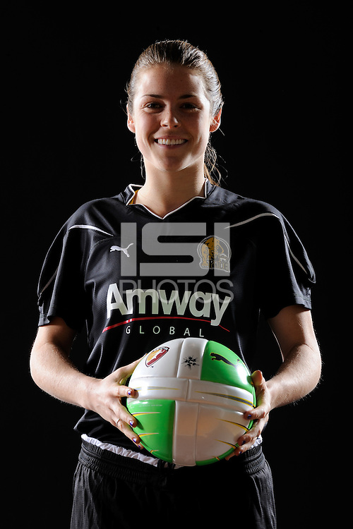 Kelley O'Hara of FC Gold Pride during a Women's Professional Soccer photo shoot in Brooklyn, New York on February 17, 2010.