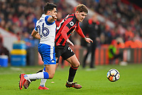 Connor Mahoney of AFC Bournemouth holds off Reece James of Wigan Athletic during AFC Bournemouth vs Wigan Athletic, Emirates FA Cup Football at the Vitality Stadium on 6th January 2018