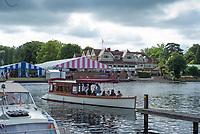 Henley-on-Thames. United Kingdom.  General view of Leander Club,acroos the River.  2017 Henley Royal Regatta, Henley Reach, River Thames. <br /> <br /> <br /> 09:32:17  Friday  30/06/2017   <br /> <br /> [Mandatory Credit. Peter SPURRIER/Intersport Images.