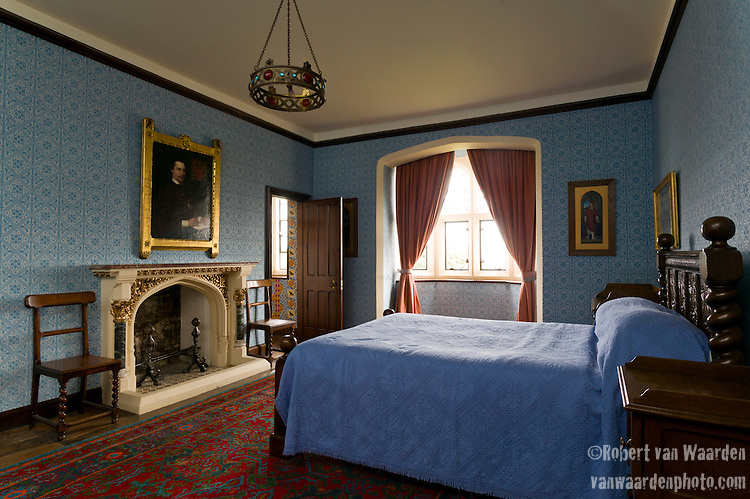 Edward Pugin's Room at the Grange in Ramsgate. The Grange is a building belonging to the Landmark Trust, a United Kingdom building preservation charity that rescues historic buildings at risk and gives them a new life as places to stay in and experience.