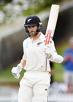 3rd December, Hamilton, New Zealand;  Kane Williamson 50 not out day 5 of the 2nd test cricket match between New Zealand and England at Seddon Park, Hamilton, New Zealand.