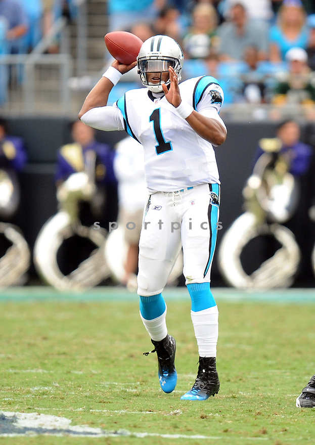 CAM NEWTON, of the Carolina Panthers, in action during the Panthers game against the Green Bay Packers on September 18, 2011 at Bank of America Stadium in Charlotte, NC. The Packers beat the Panthers 30-23.