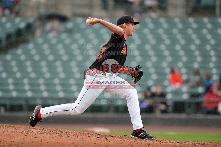 Rochester Red Wings pitcher Michael Tonkin #32 during a game against the Toledo Mudhens on June 11, 2013 at Frontier Field in Rochester, New York.  Toledo defeated Rochester 9-5.  (Mike Janes/Four Seam Images)