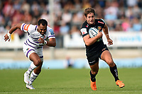 Santiago Cordero of Exeter Chiefs goes on the attack. Gallagher Premiership match, between Exeter Chiefs and Leicester Tigers on September 1, 2018 at Sandy Park in Exeter, England. Photo by: Patrick Khachfe / JMP