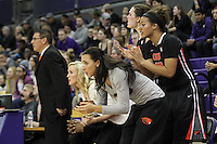 Feb 06, 2015:  Oregon State's Gabriella Hanson against Washington.  Washington defeated Oregon State 76-67 at Alaska Airlines Arena in Seattle, WA.