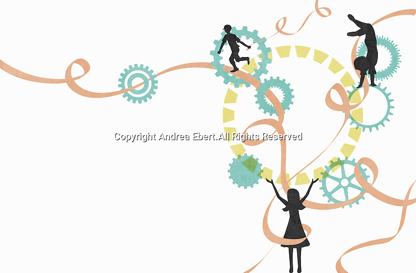 Abstract image of playing children