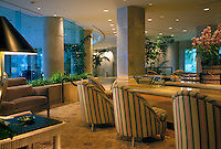 Beverly Hilton, Hotel Lounge Bar, Beverly Hills, CA interior lifestyle, decor, Contemporary