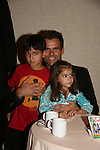 Cameron Mathison - son Lucas - daughter Leila attend All My Children Fan Luncheon on September 13, 2009 at the New York Helmsley Hotel, NYC, NY. (Photo by Sue Coflin/Max Photos)